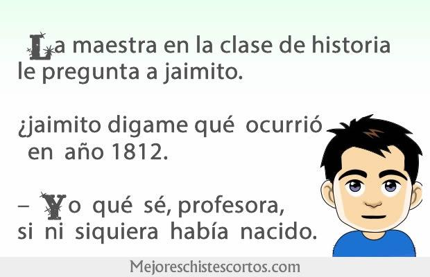 Jaimito en la clase de Historia